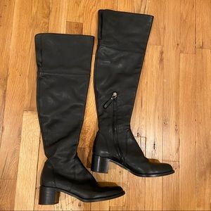 Sergio Rossi Over the Knee Leather Boots